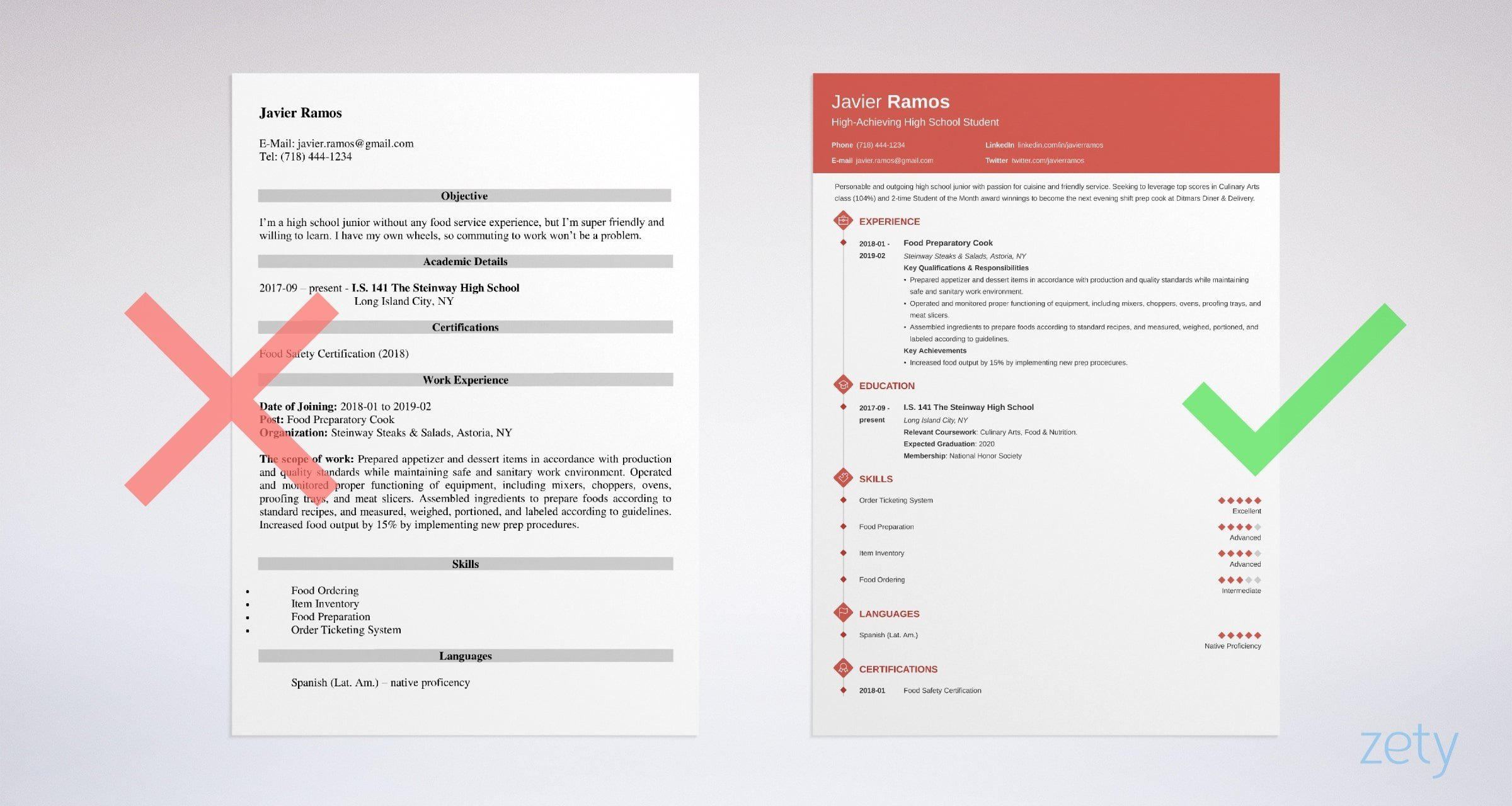 Examples Of High  Resumes | High School Student Resume Sample Writing Guide 20