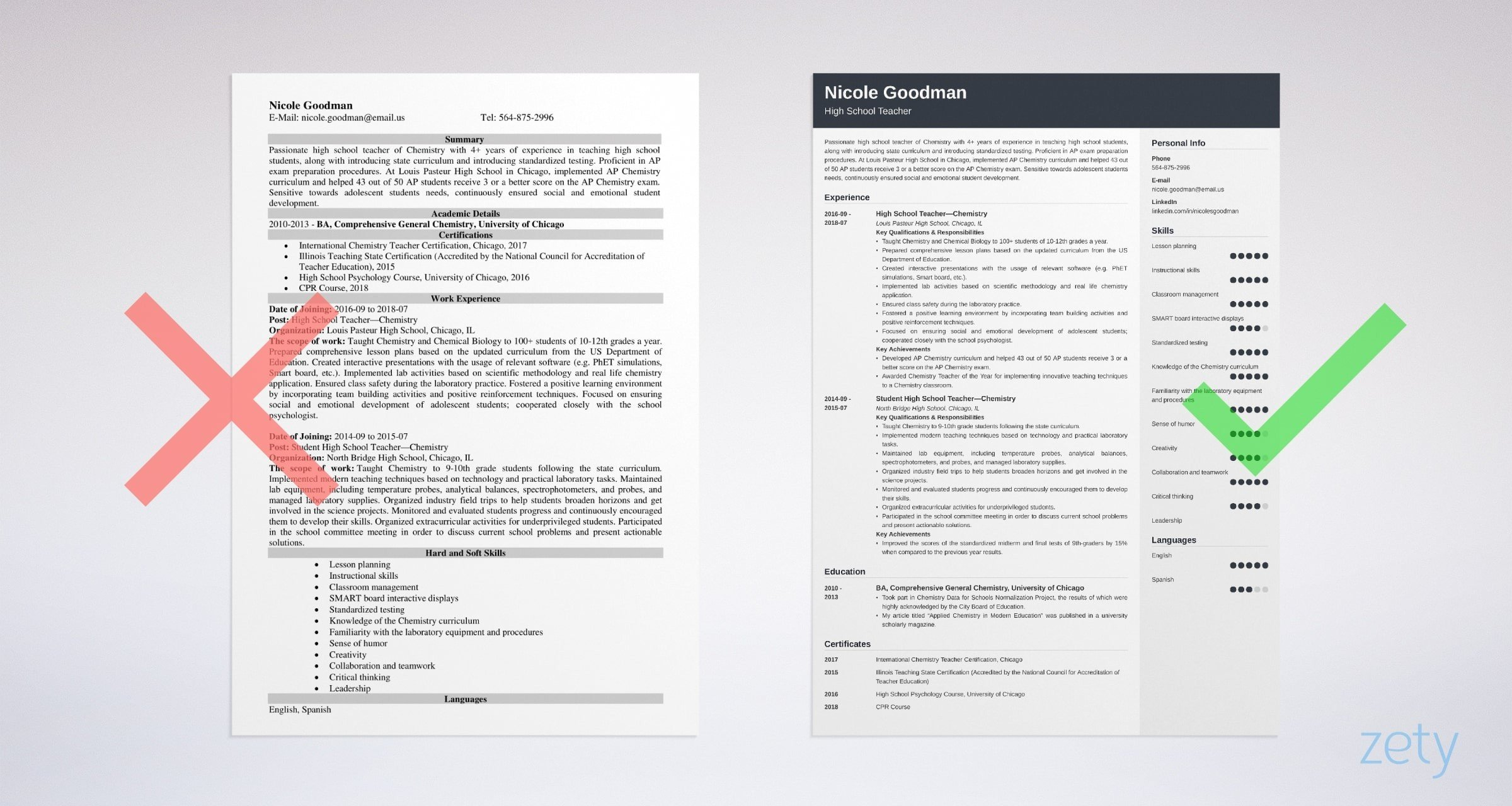 high school teacher resume examples  template  u0026 guide