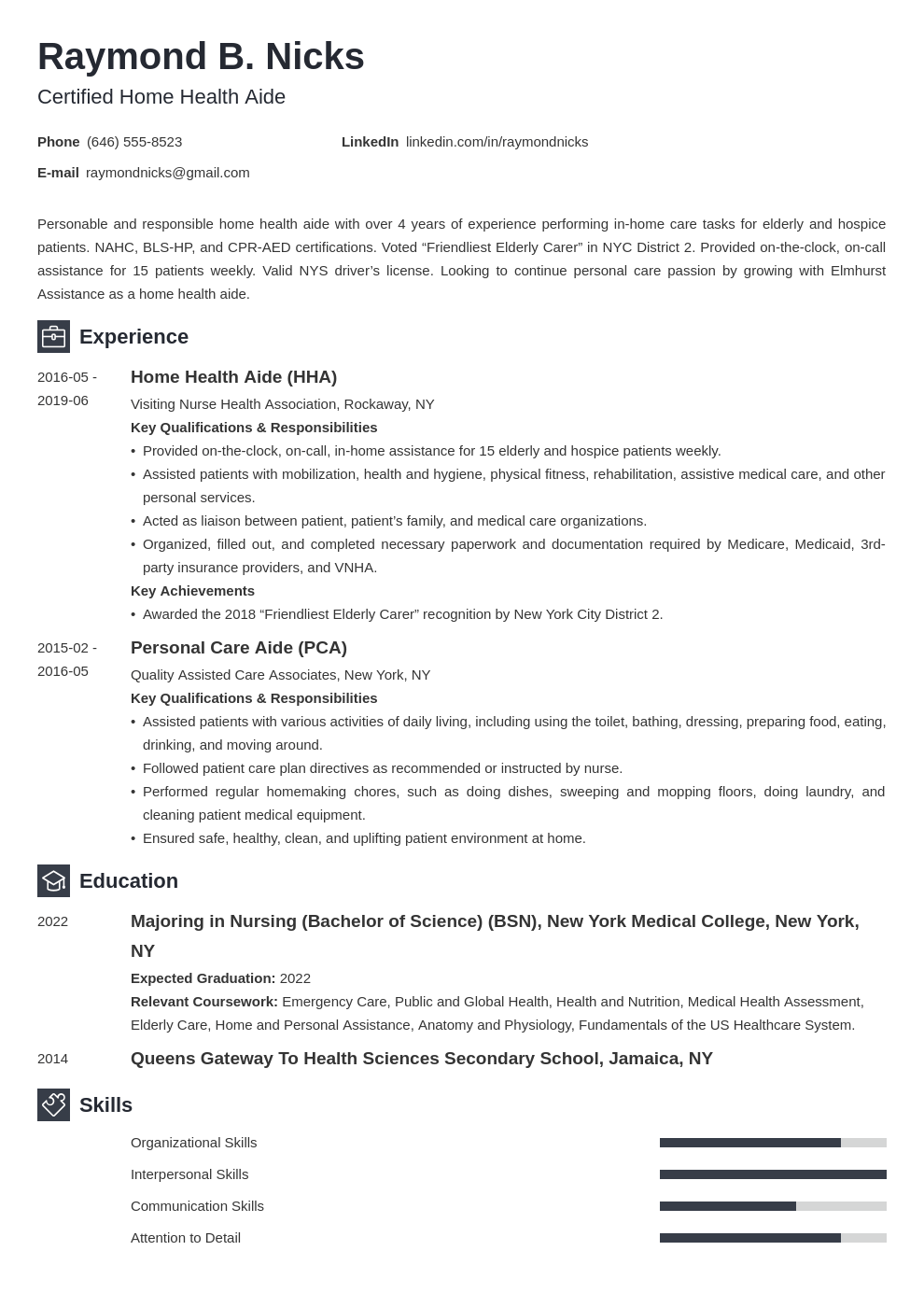 home health aide resume example template newcast