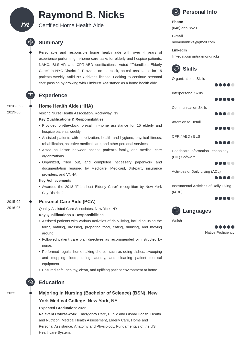 home health aide resume example template primo