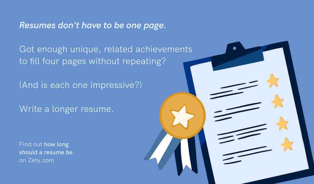 How long should your resume be