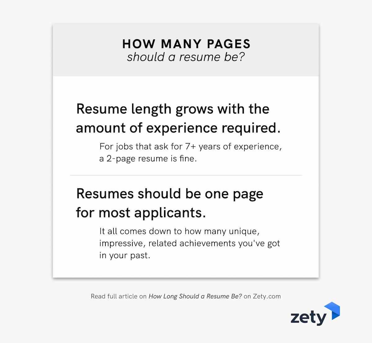 How Long Should A Resume Be Ideal Resume Length