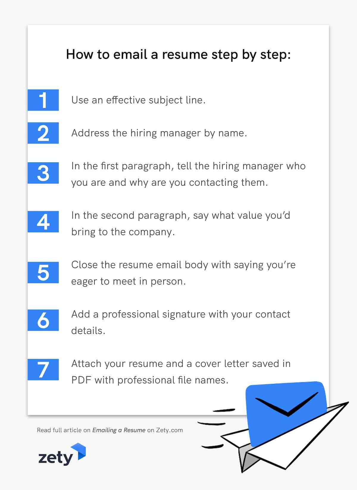 How to email a resume step by step