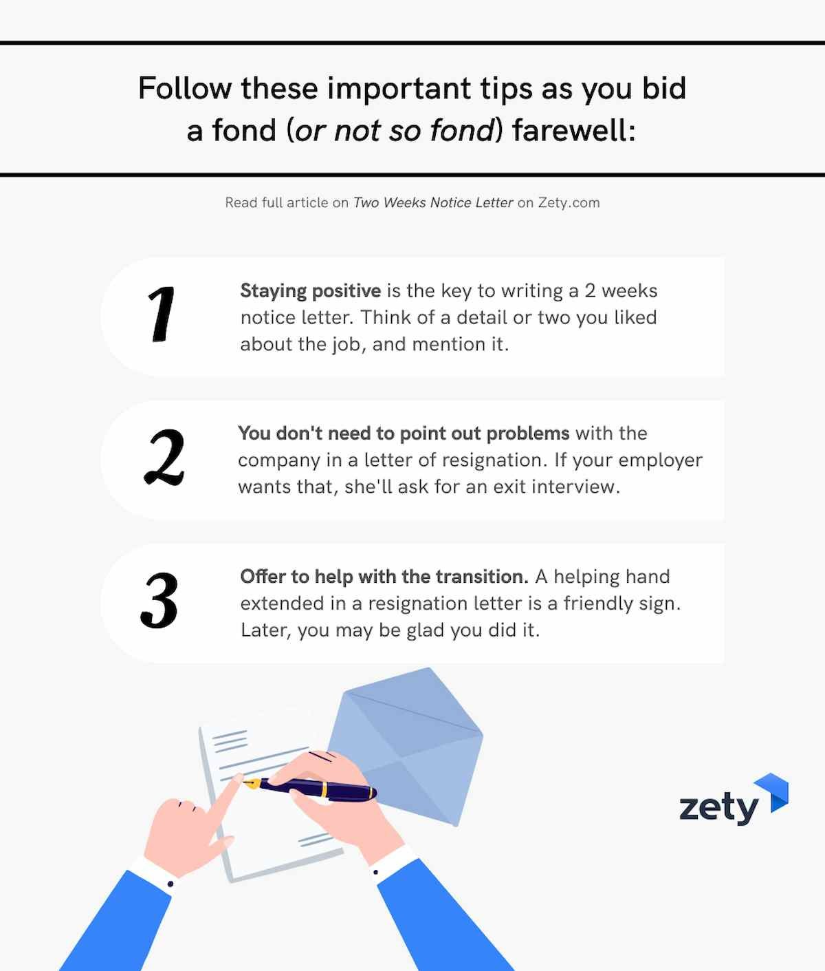 How to give two weeks notice letter of resignation