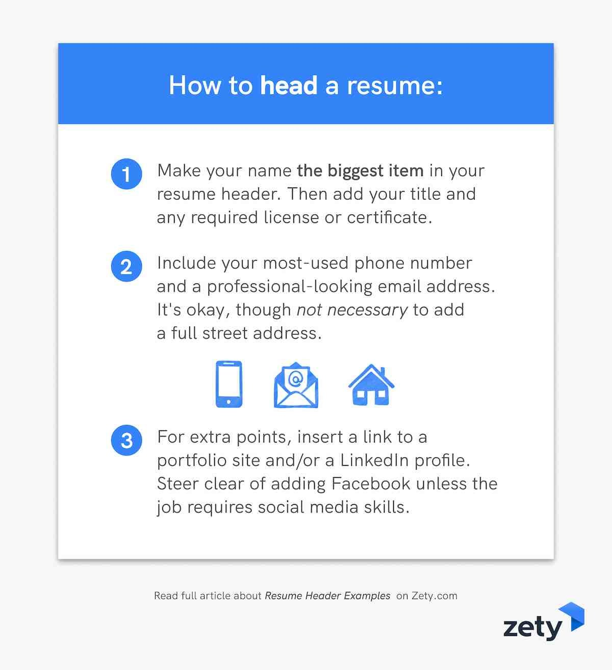 How to head a resume