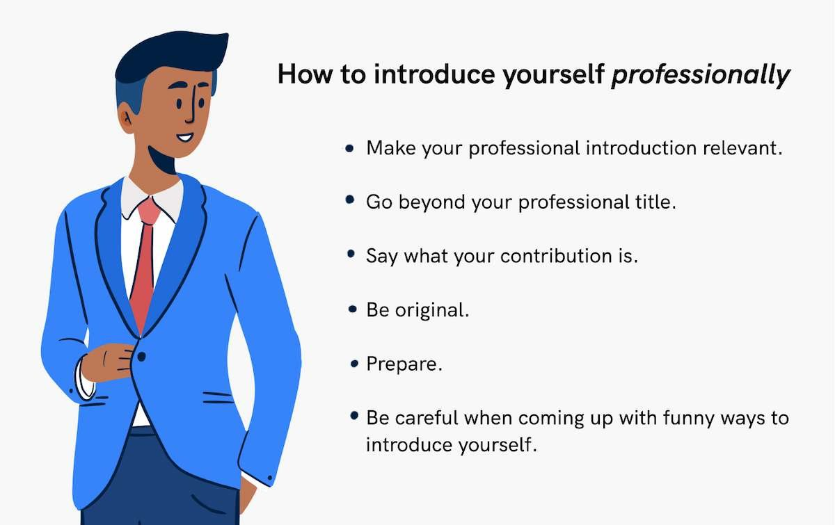How to introduce yourself professionally