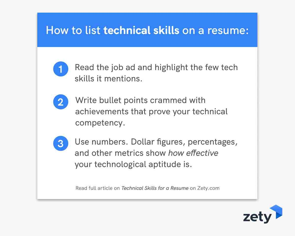 How to list technical skills on a resume
