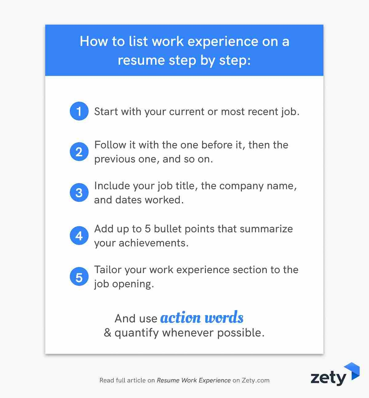 How to write your resume job descriptions step by step