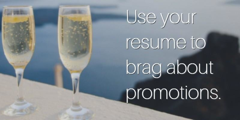 how to put promotion on a resume