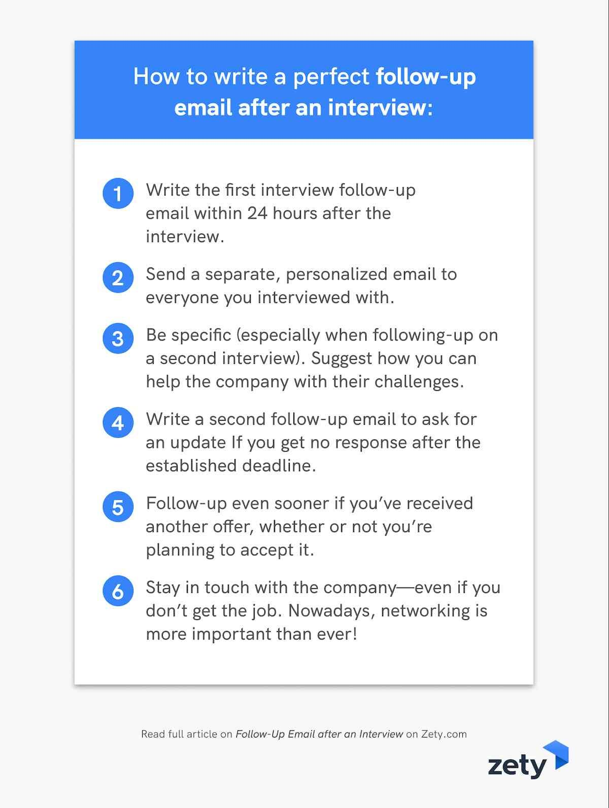 How to write a perfect follow-up email after an interview