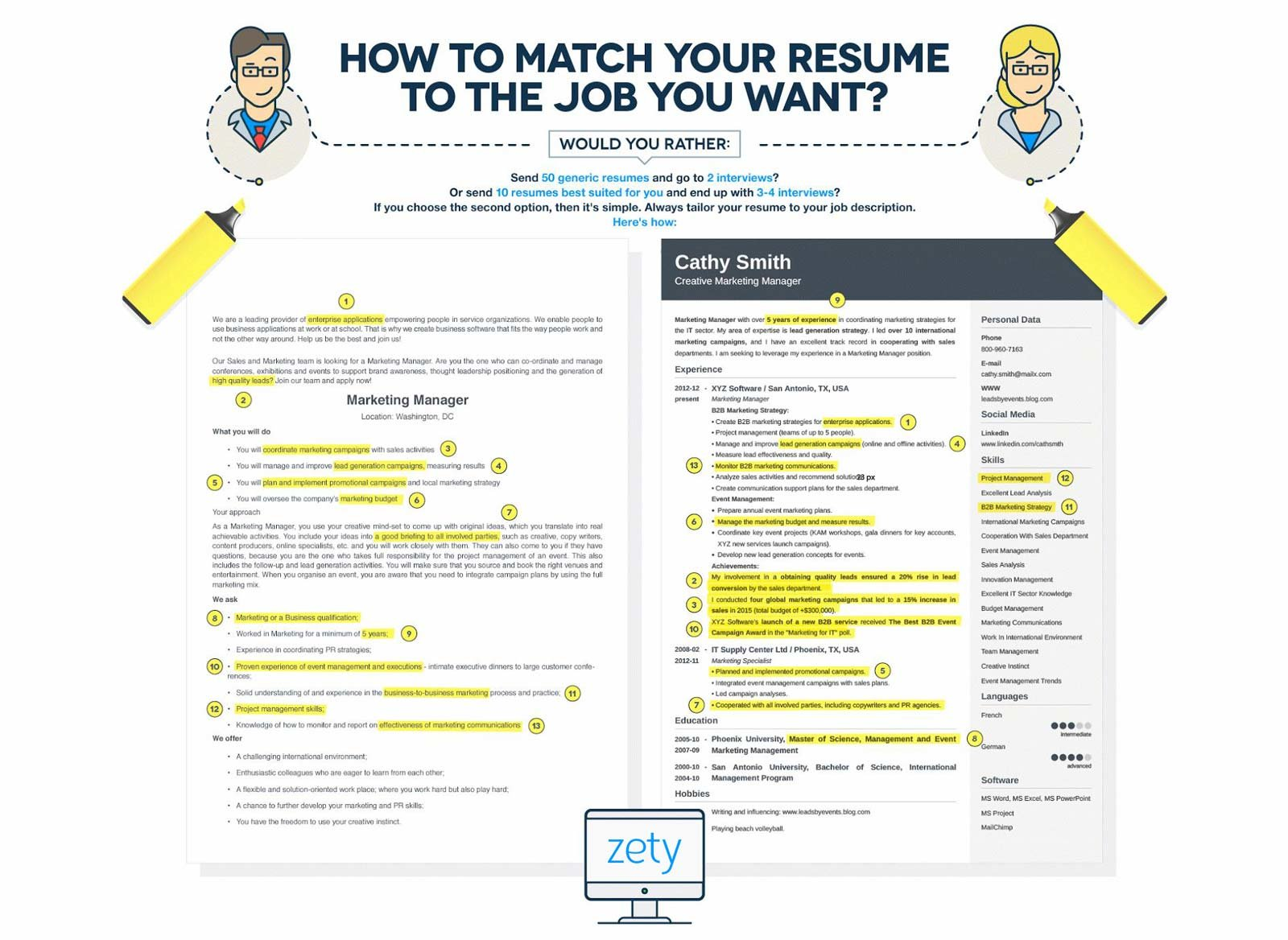 show me how to write a resume