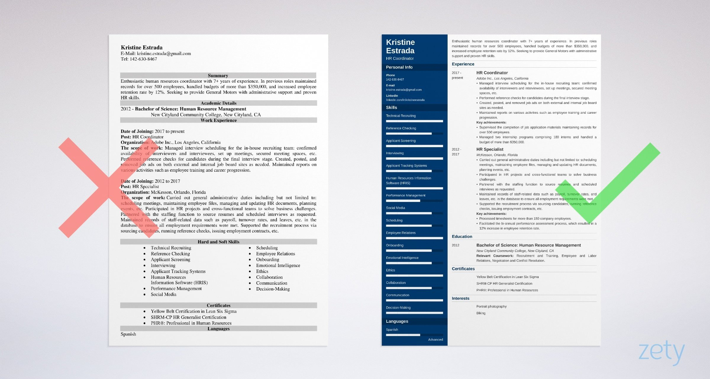 hr coordinator resume templates