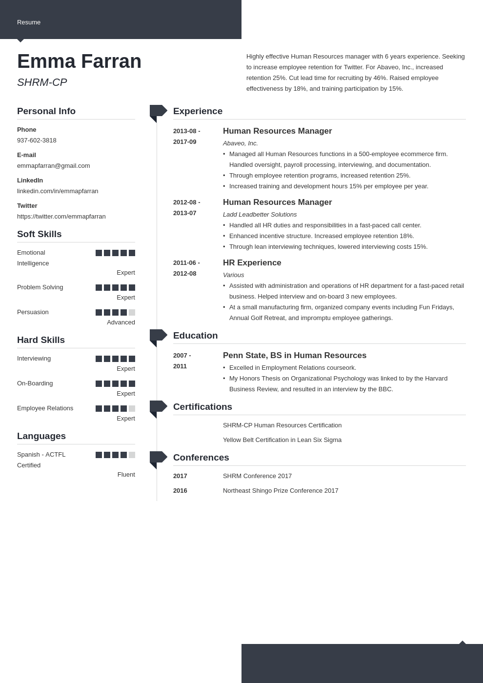 human resources resume example template modern