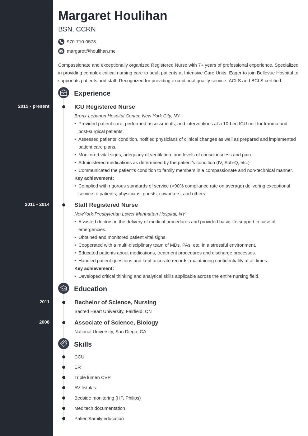 icu nurse resume example template concept