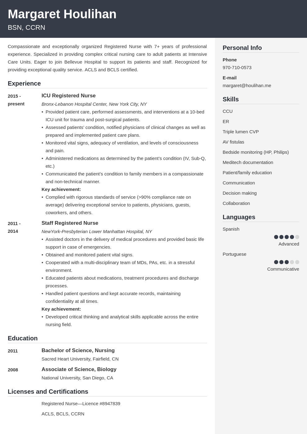 icu nurse resume example template cubic