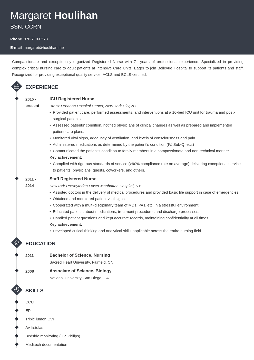 icu nurse resume example template diamond