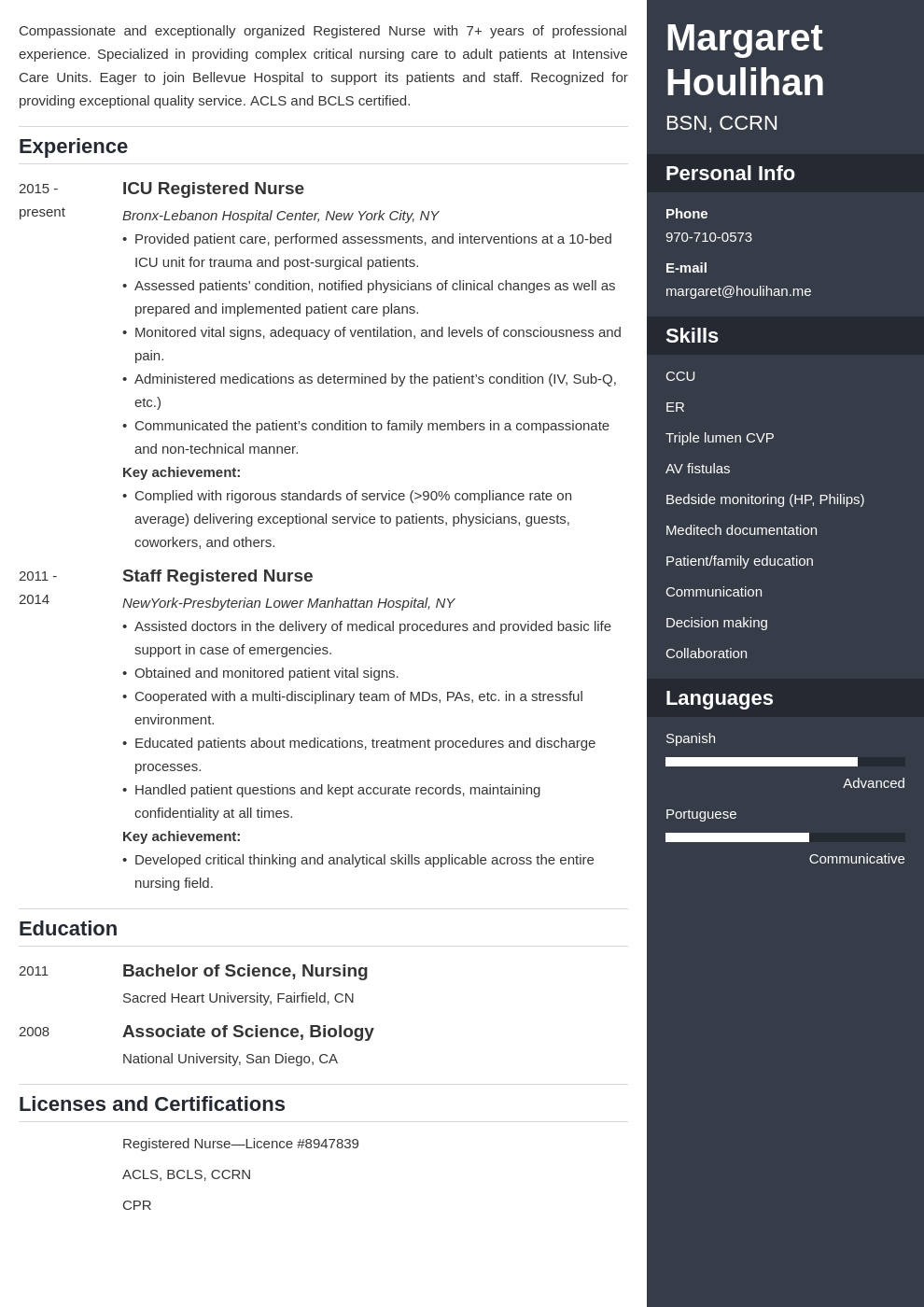 icu nurse resume example template enfold