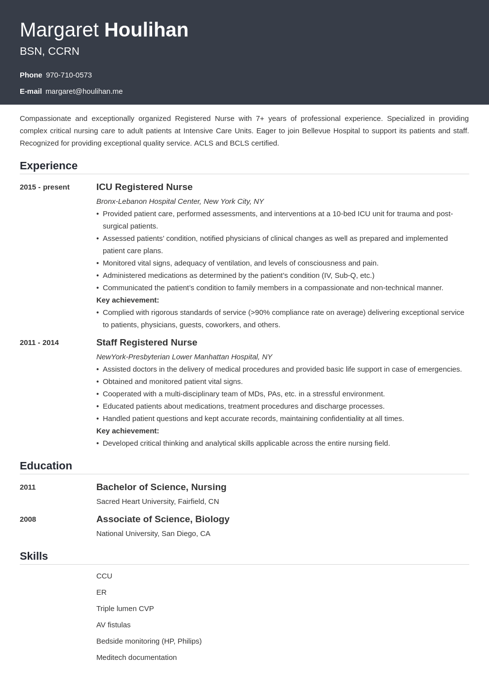 icu nurse resume example template influx