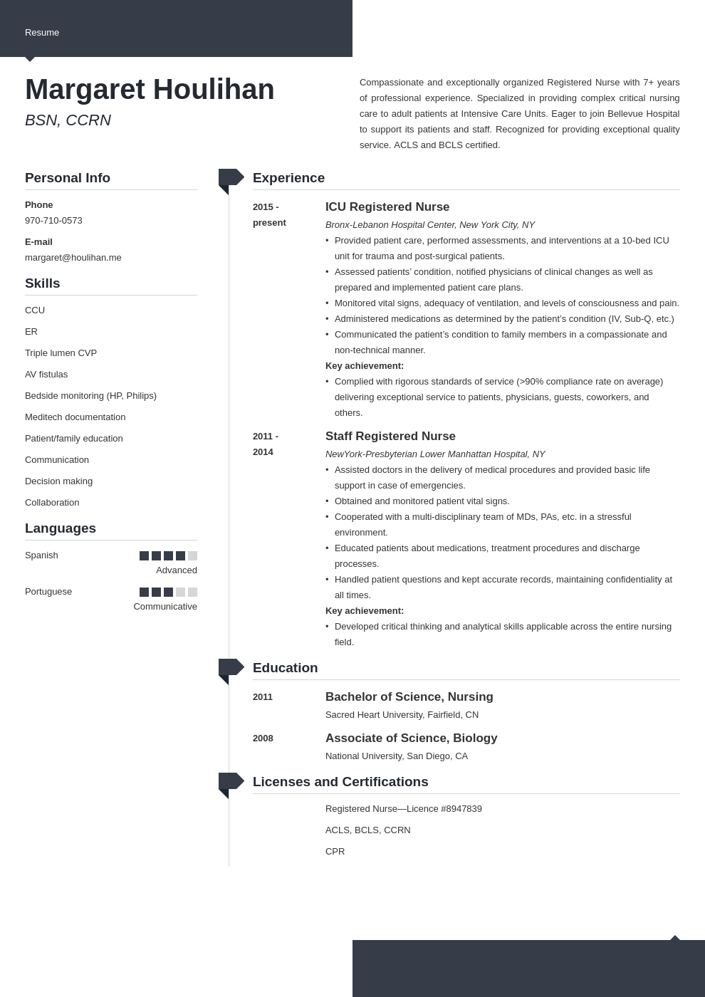 icu nurse resume example template modern