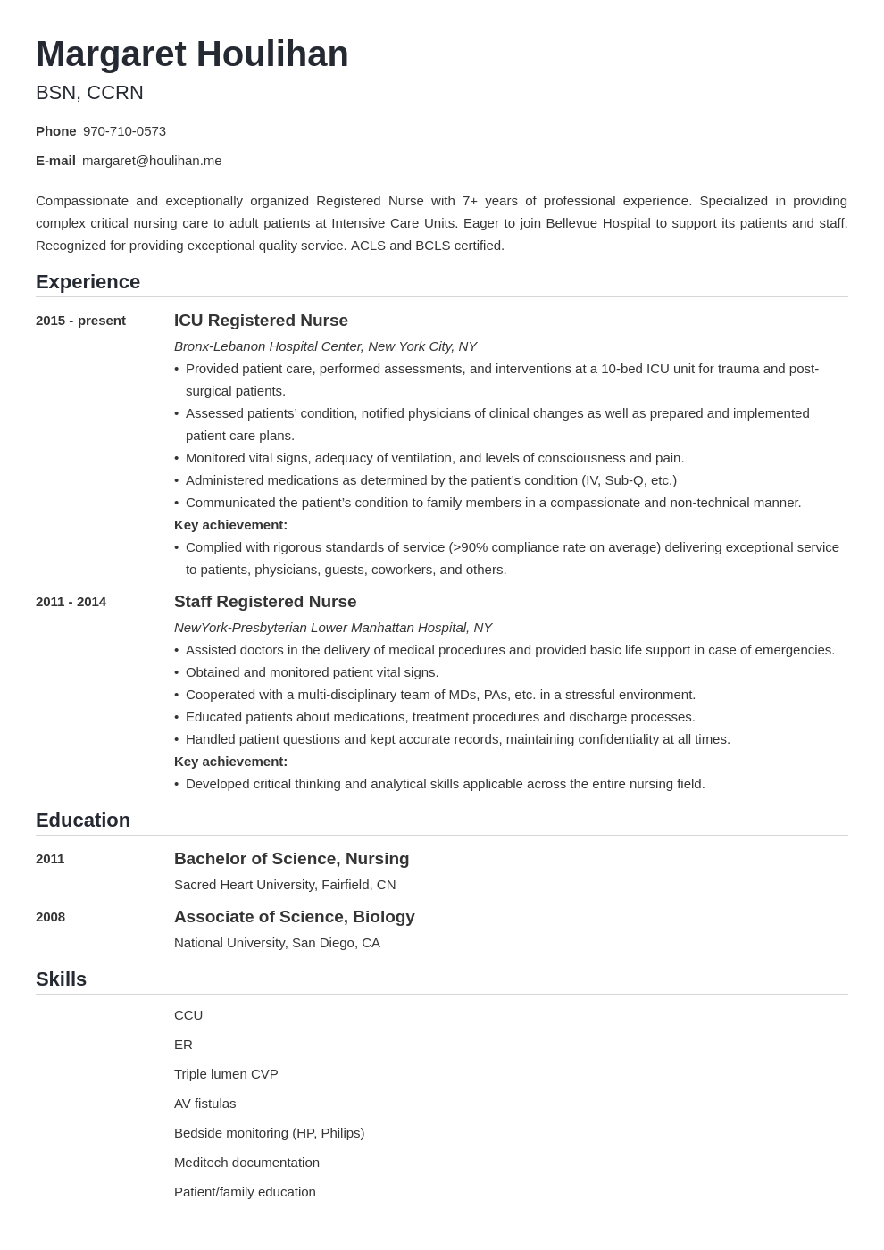 icu nurse resume example template nanica
