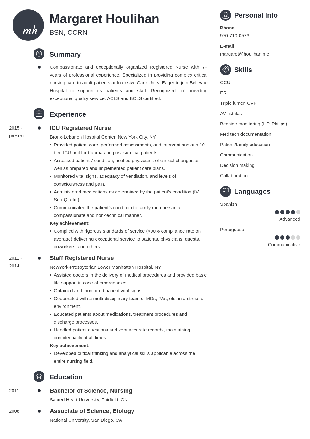 icu nurse resume example template primo