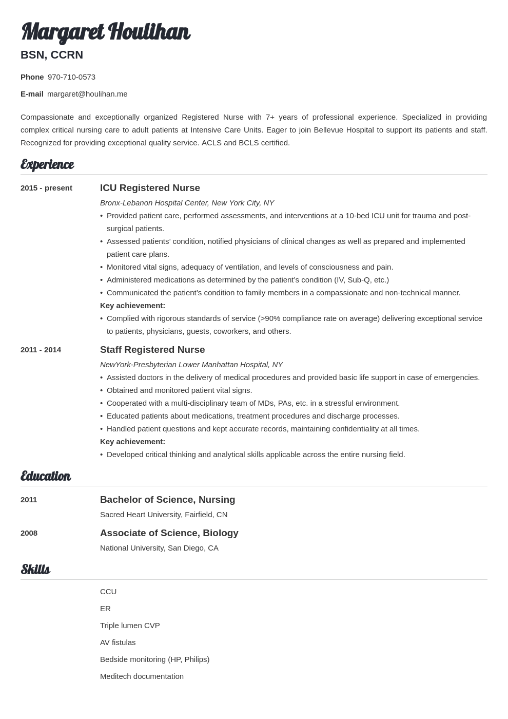 icu nurse resume example template valera