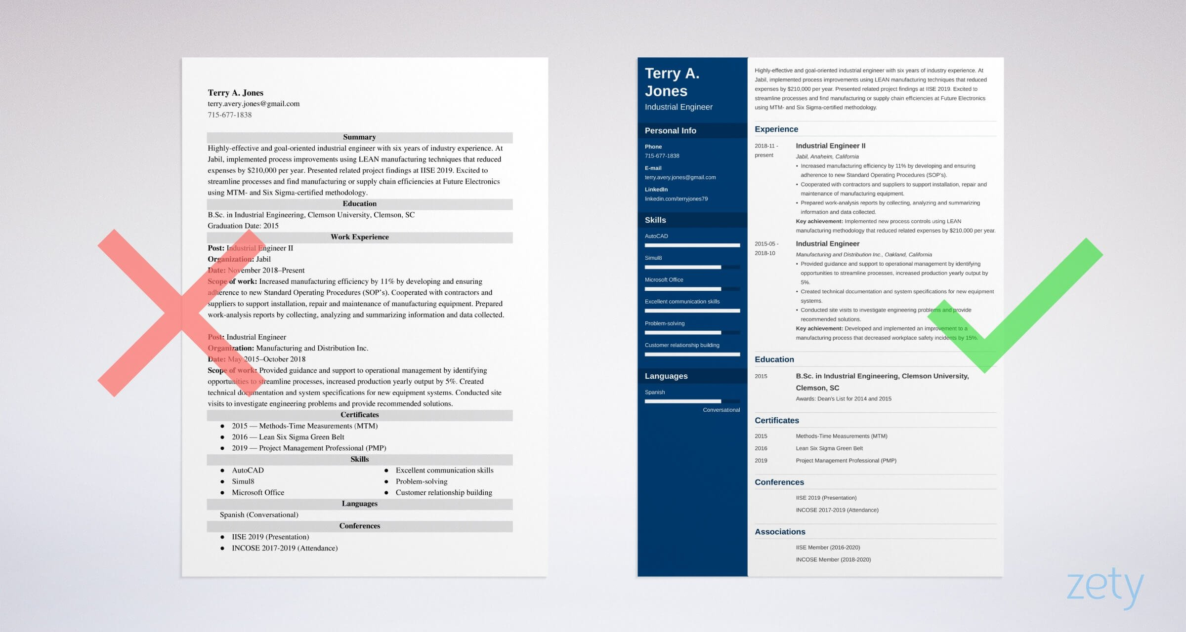 industrial engineer resume templates