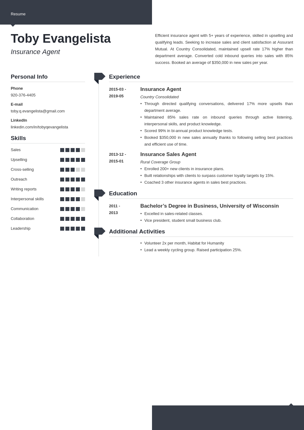 insurance agent resume example template modern