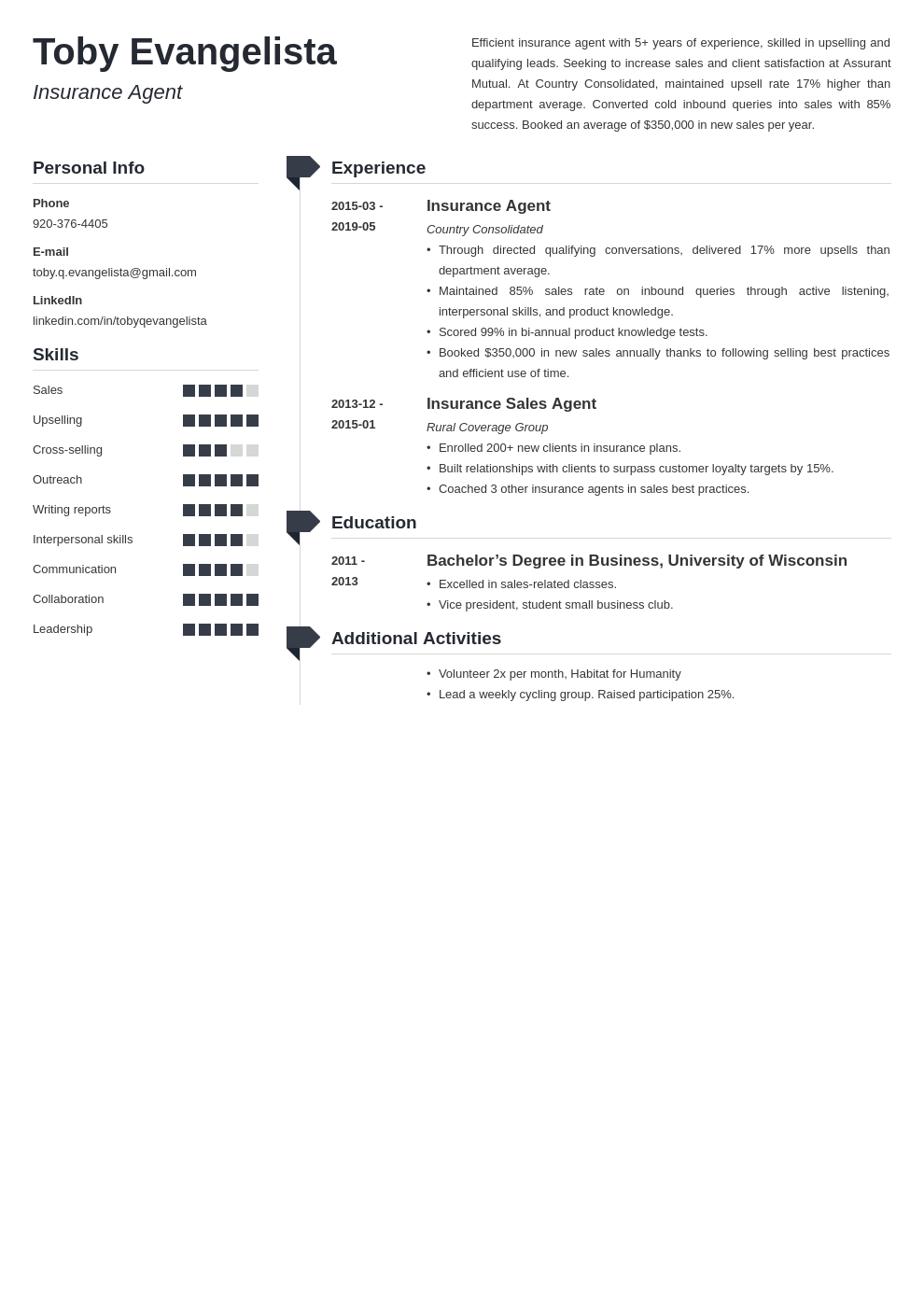 insurance agent resume example template muse