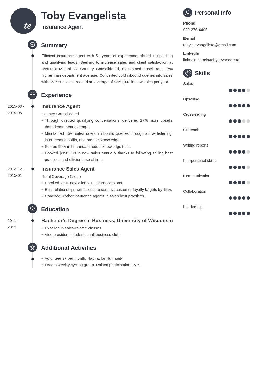 insurance agent resume example template primo