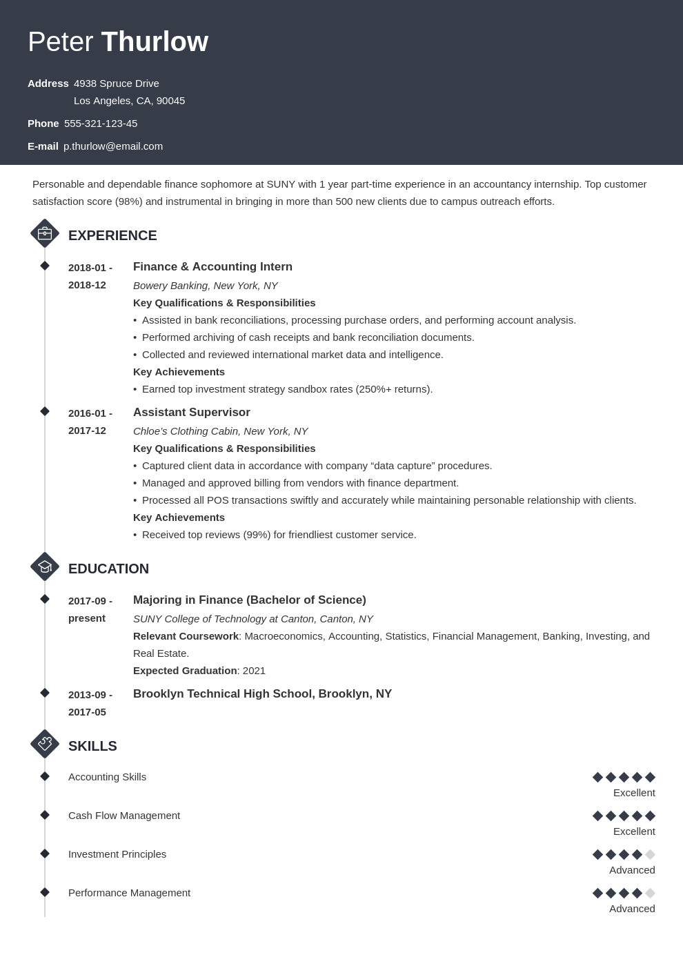 Internship Resume Template | Internship Resume For College Students Guide 20 Examples
