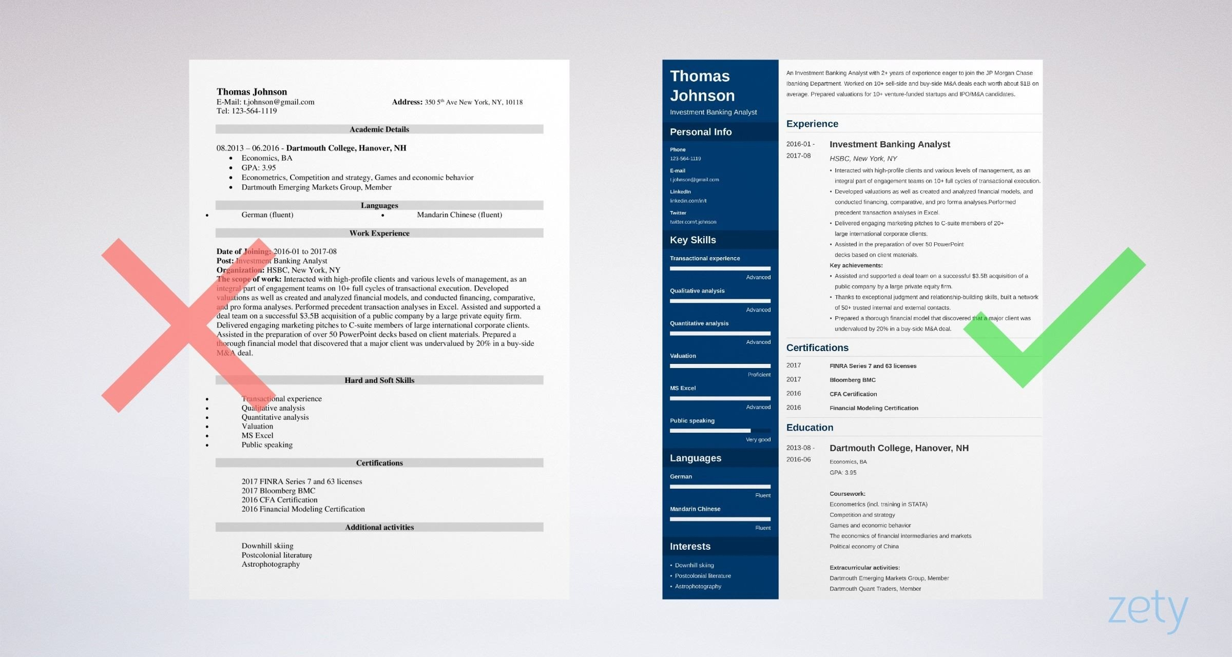 investment banking resume template  u0026 guide  20 examples