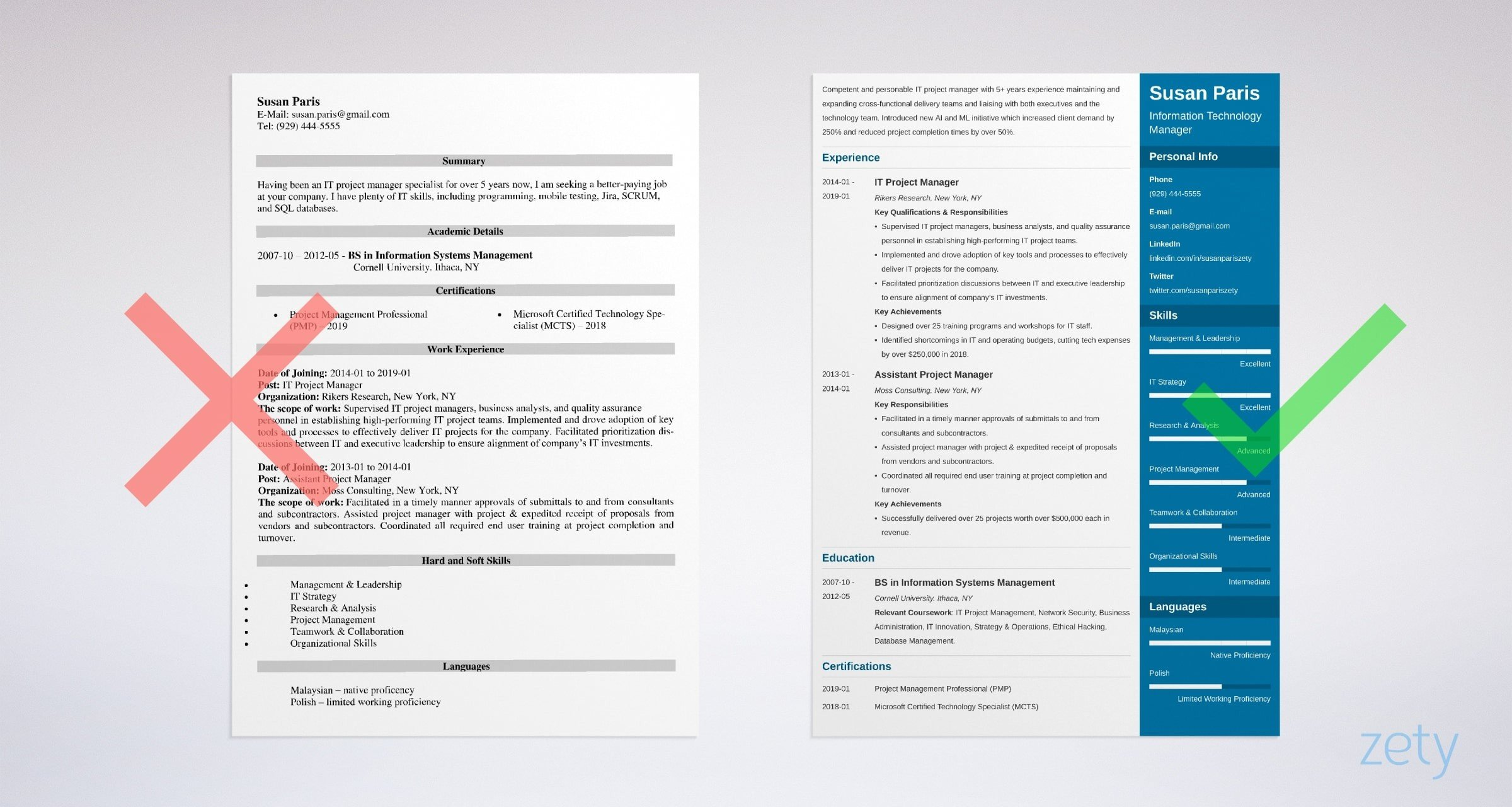 it manager resume templates