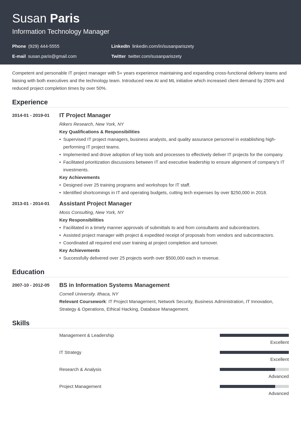 it manager resume example template influx