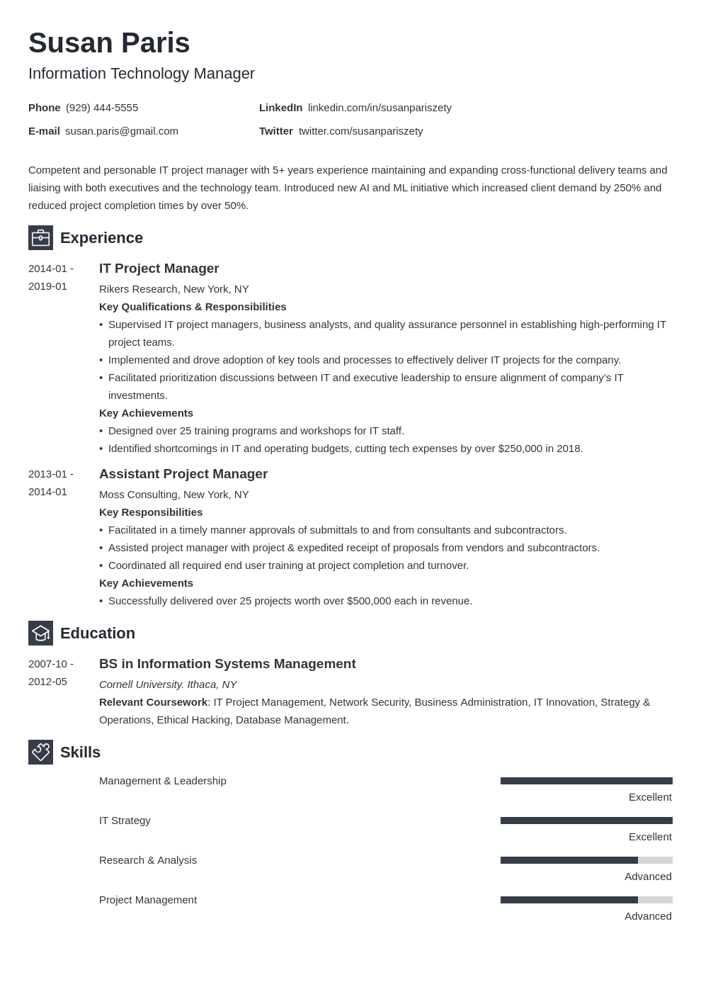 it manager resume example template newcast