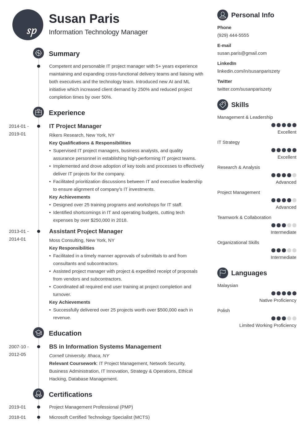 it manager resume example template primo