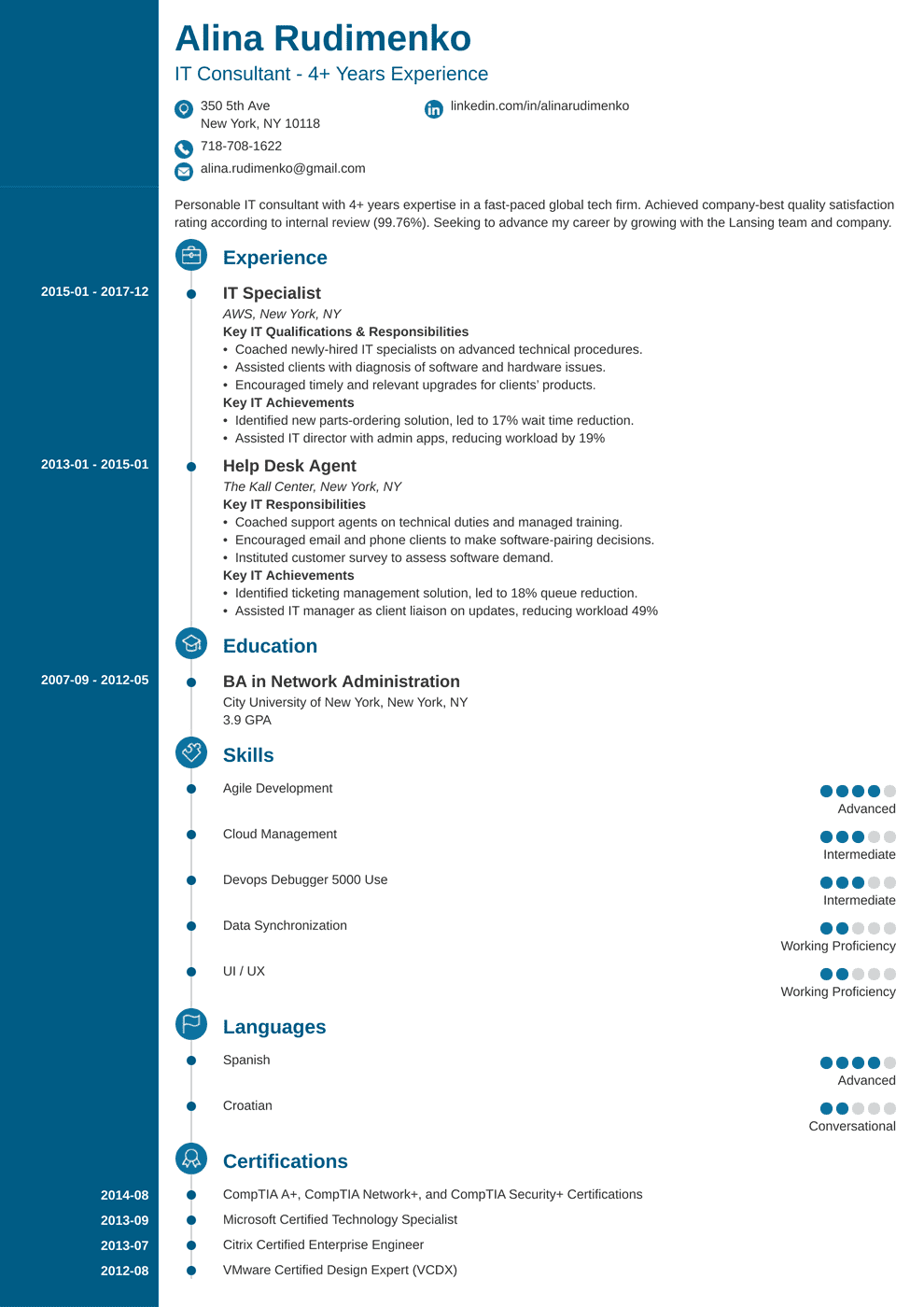 Professional IT Resume (Guide & Examples for 2019)