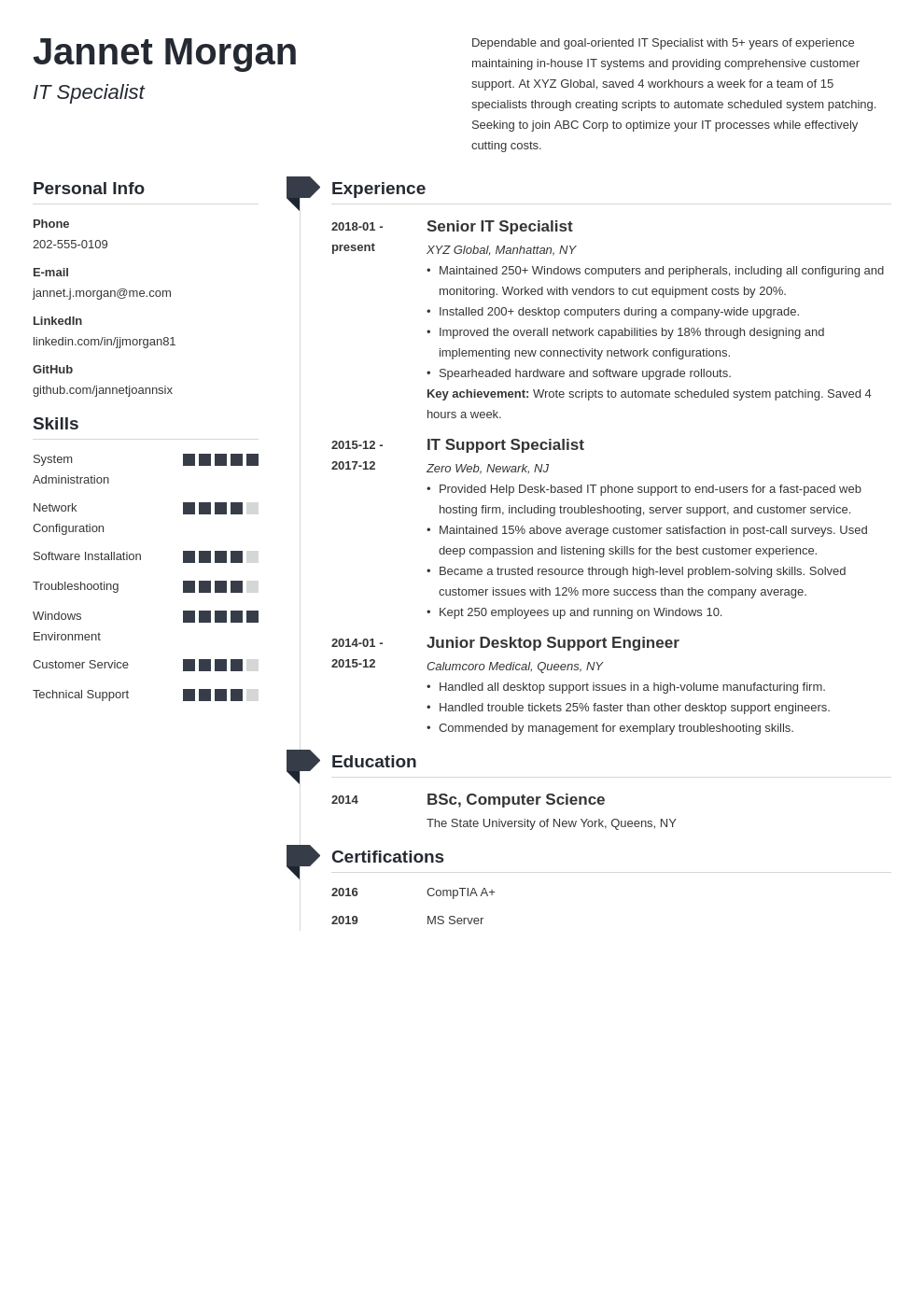 it specialist resume example template muse