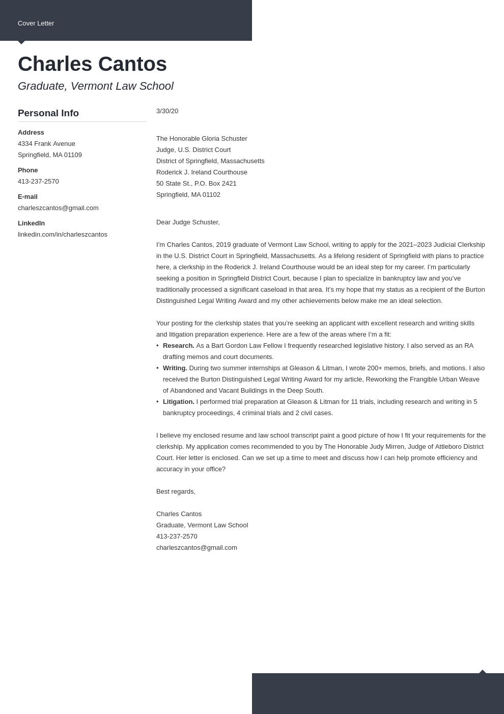 Judicial Clerkship Cover Letter Sample And Writing Guide