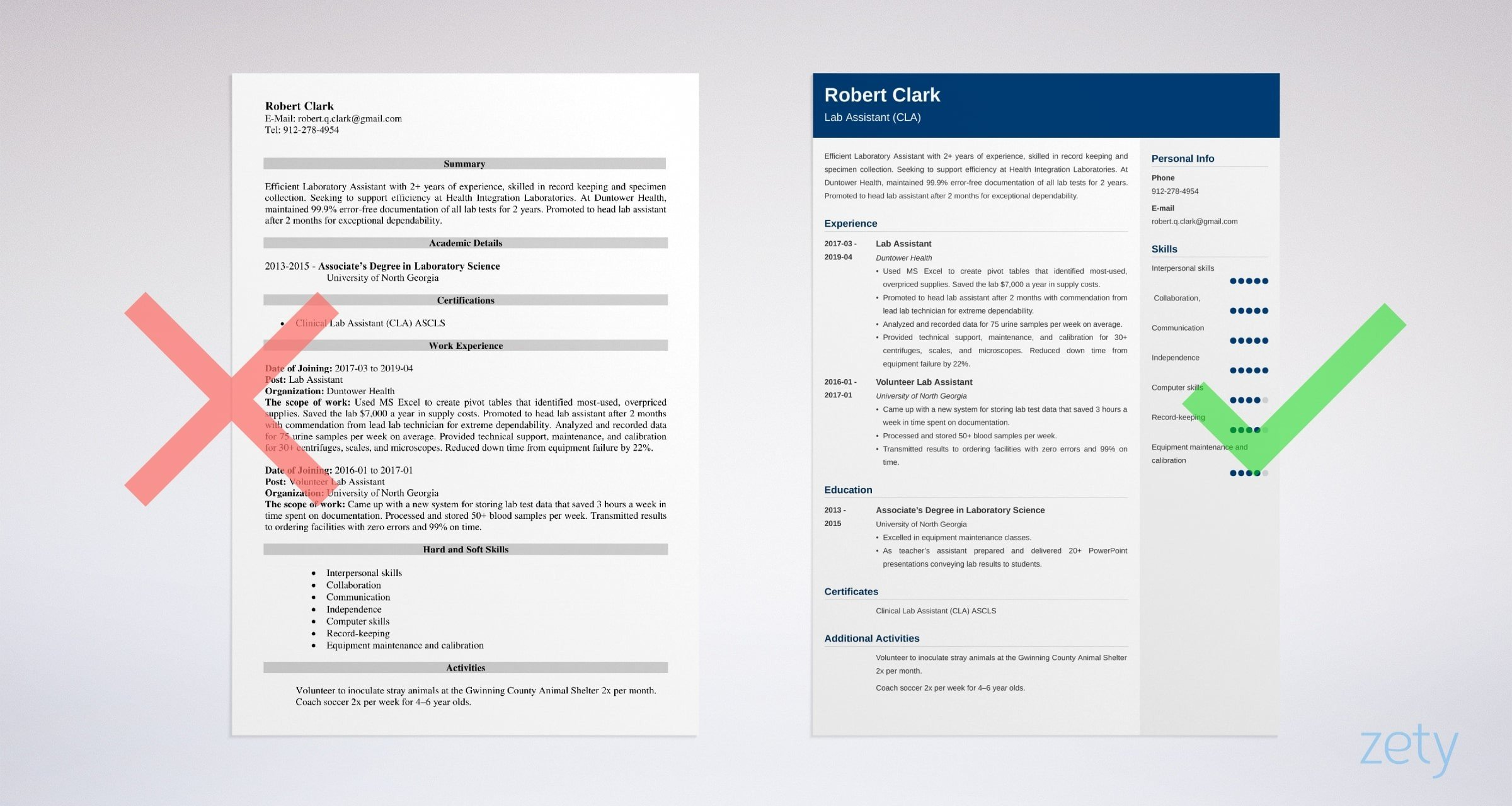 lab assistant resume templates