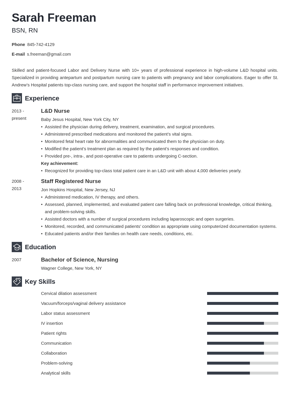 labor and delivery nurse resume example template newcast