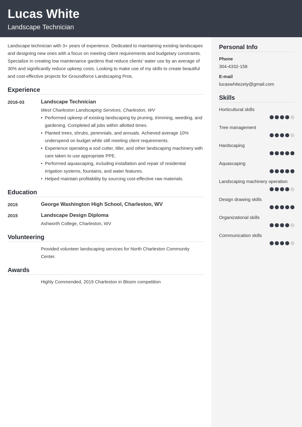 landscaping resume example template cubic