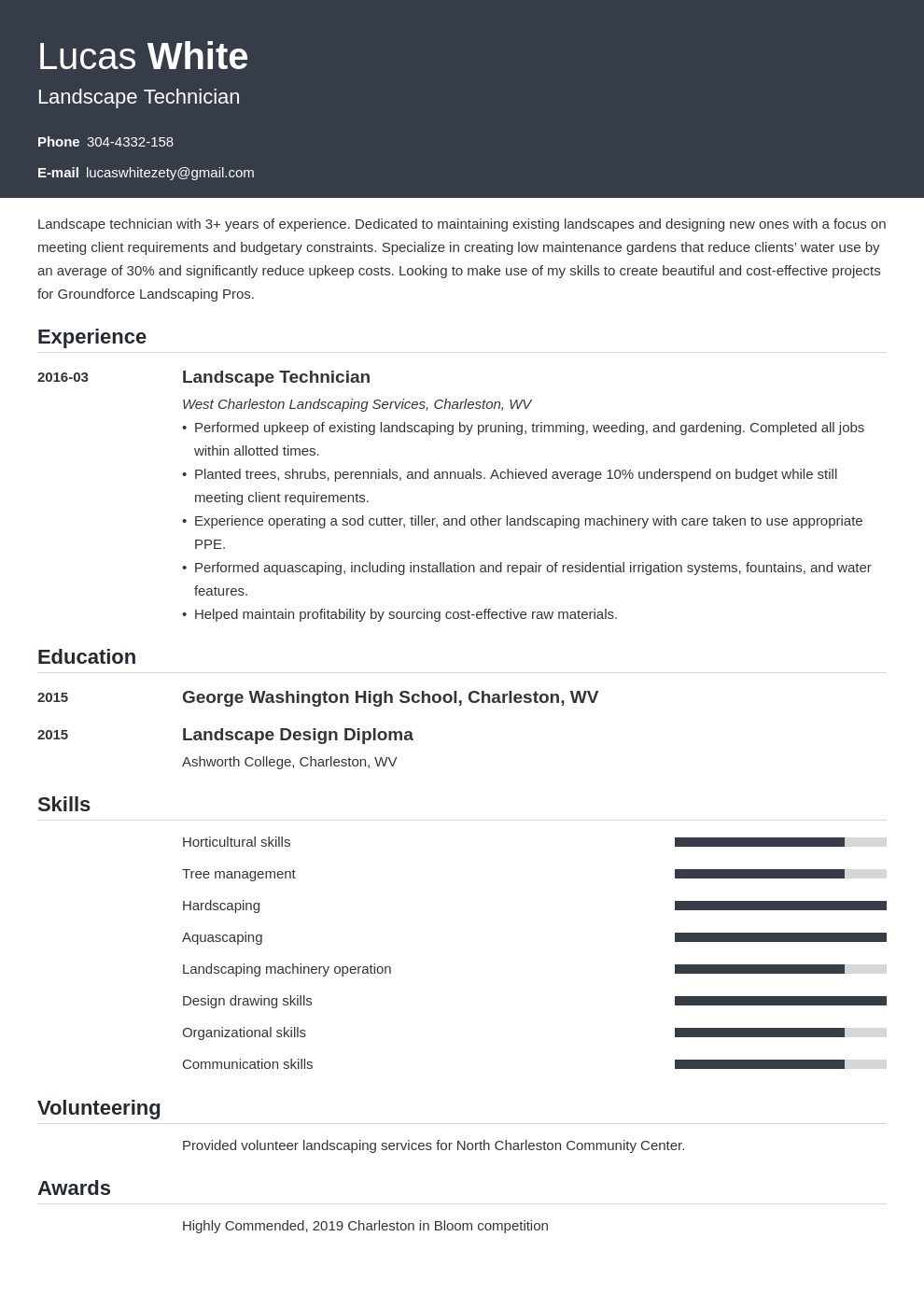 landscaping resume example template influx