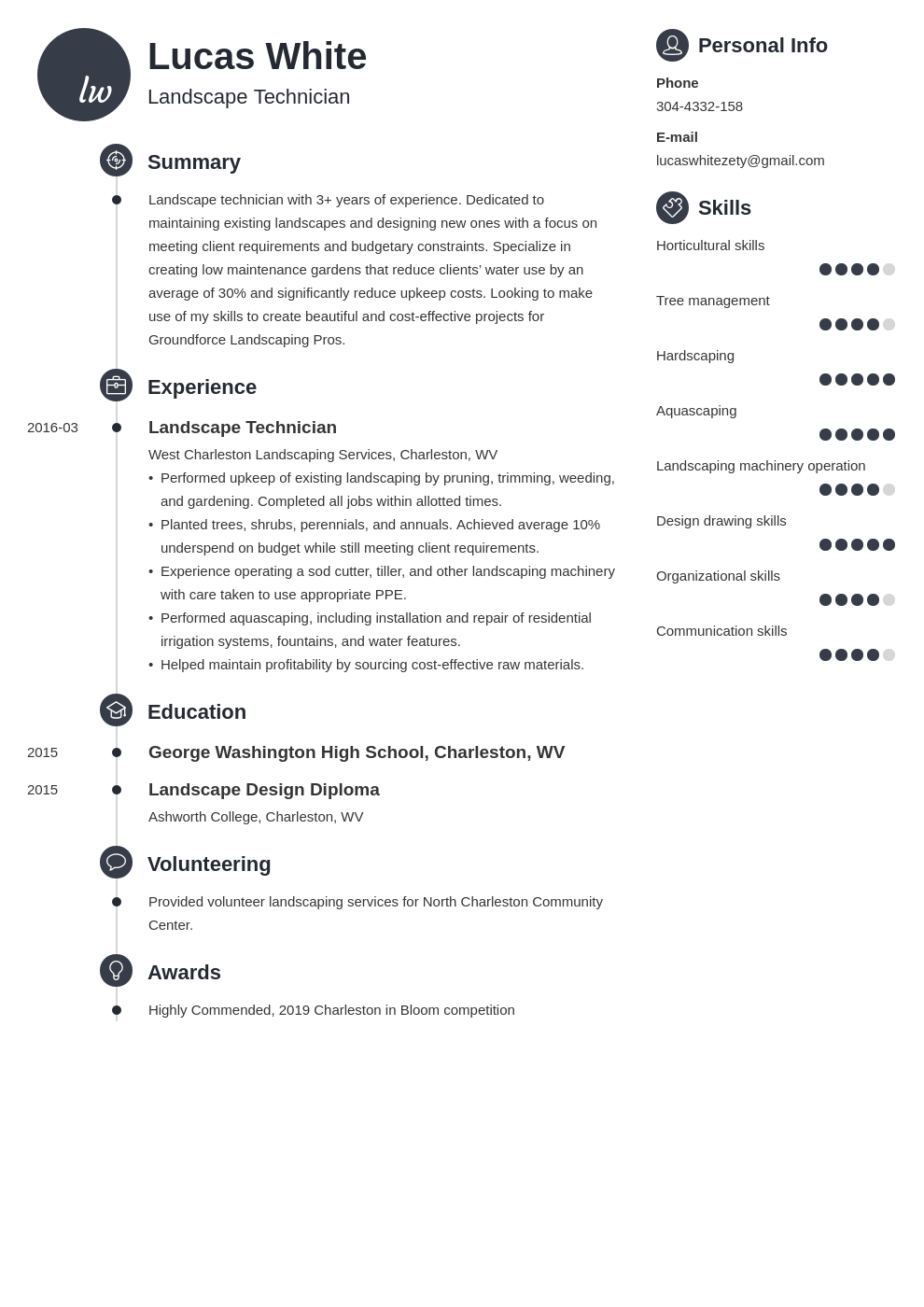 landscaping resume example template primo