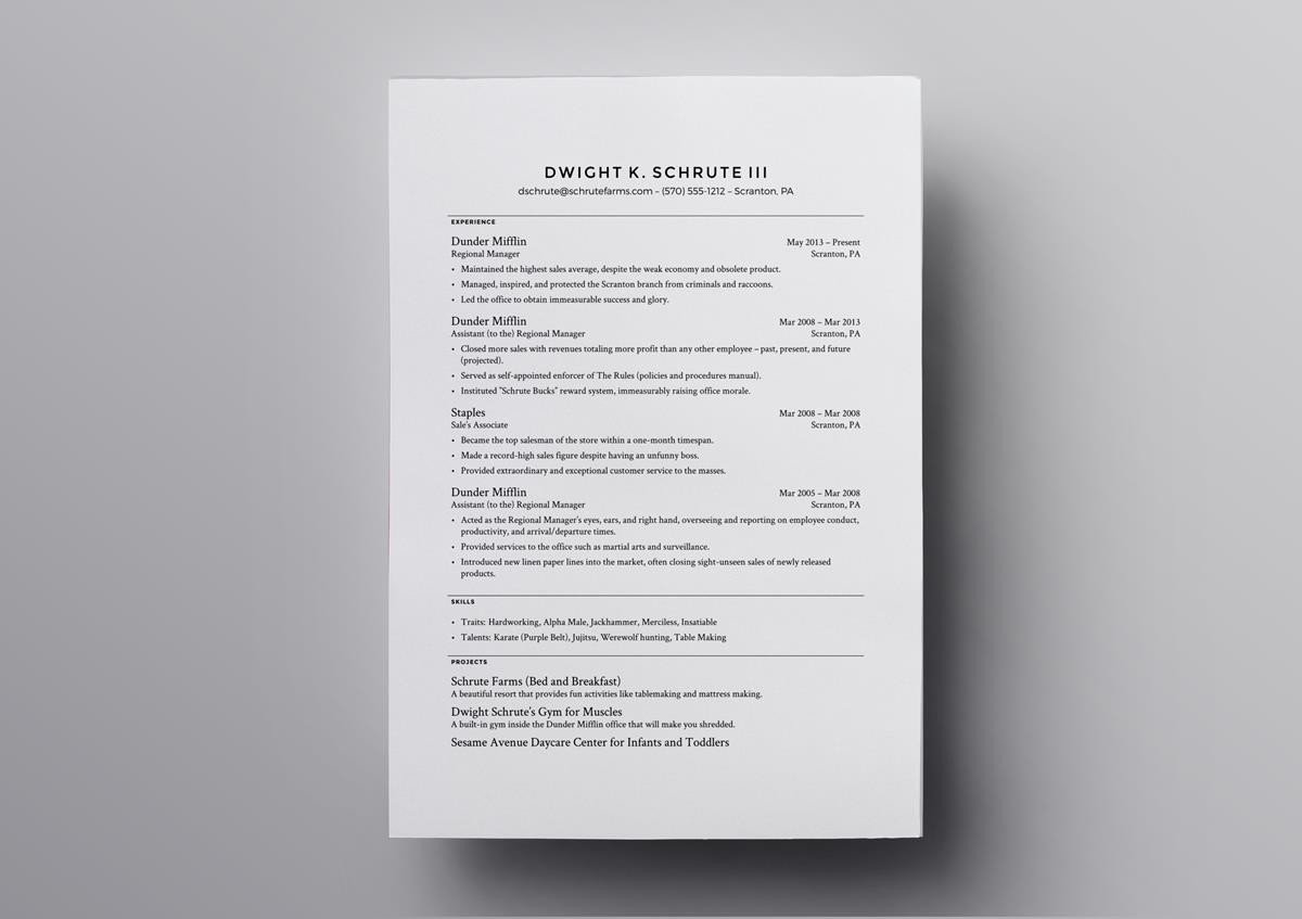 Latex Resume Template 6