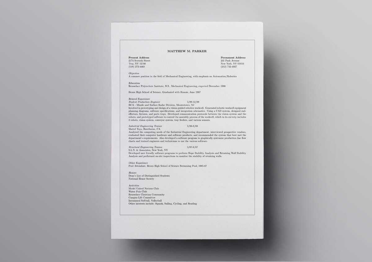10  latex resume templates  u0026 cv templates