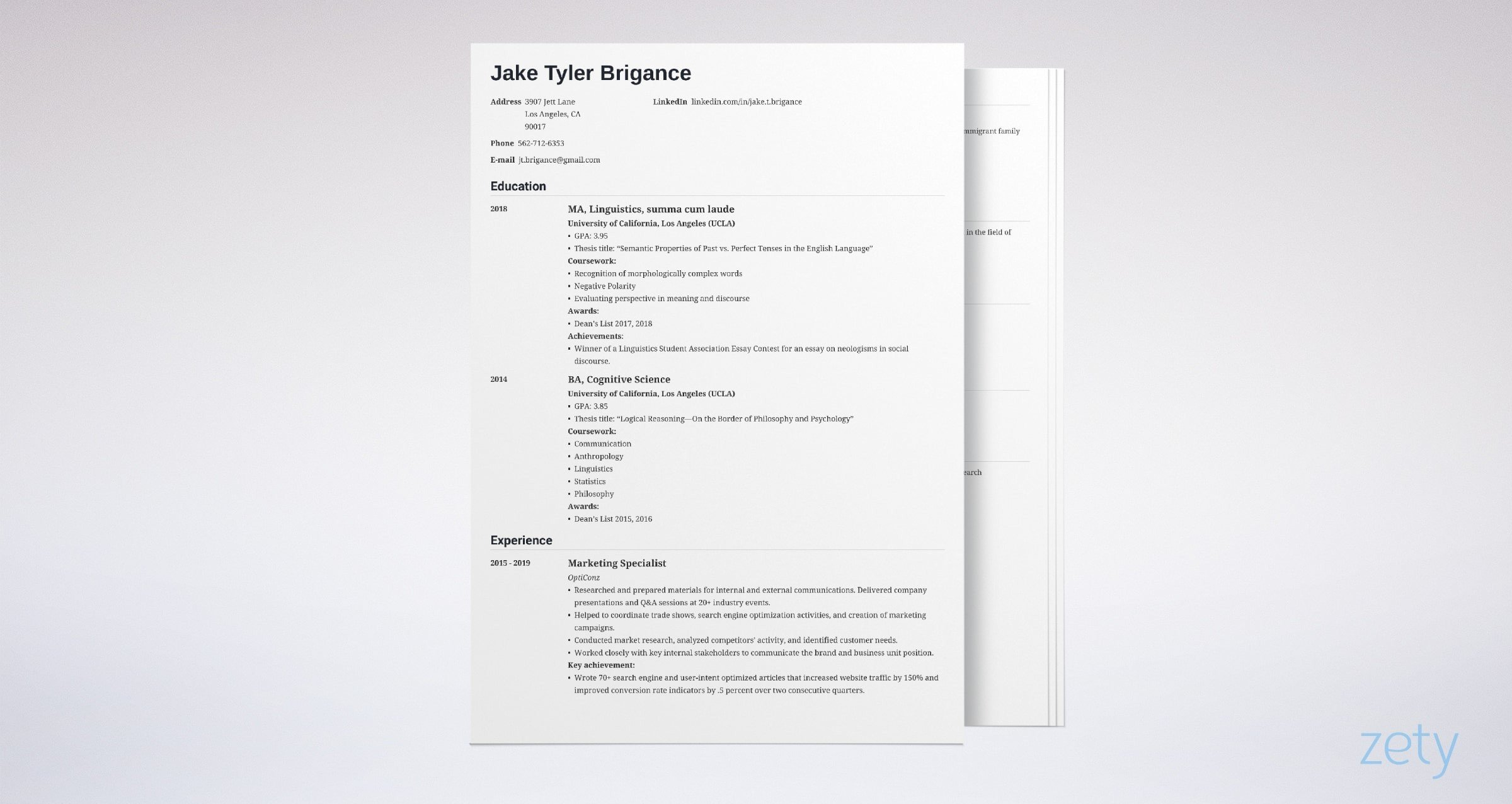 law school resume templates