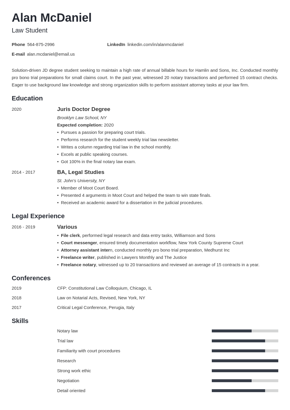 Law School Application Resume Template 20 Examples