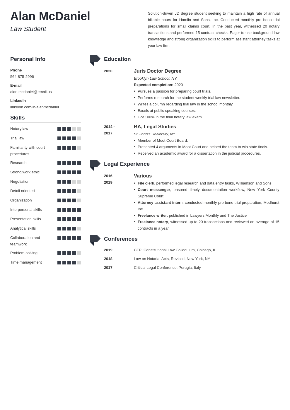 law school resume example template muse