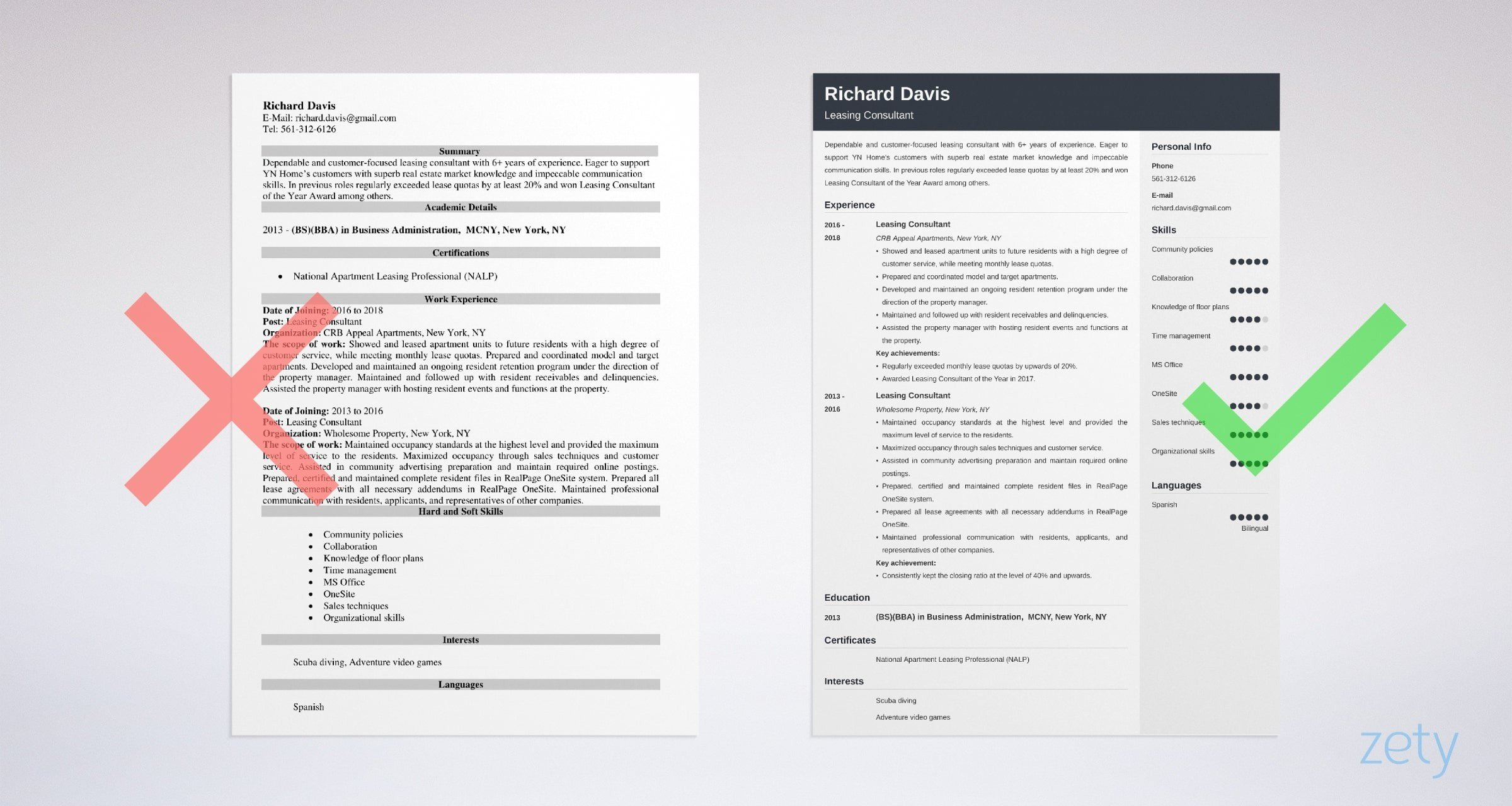 leasing consultant resume templates